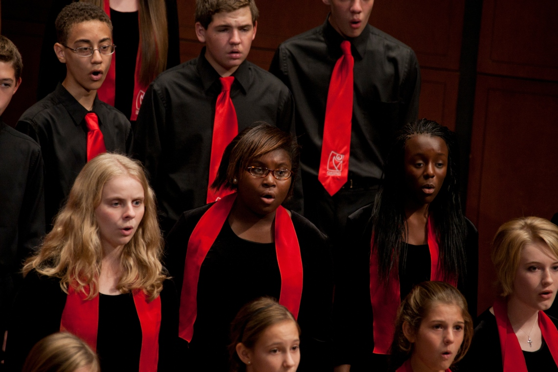 The Cincinnati Children's Choir, ensemble-in-residence at CCM.