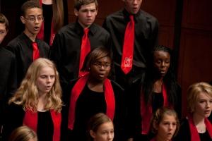 The Cincinnati Children's Choir, ensemble-in-residence at CCM.