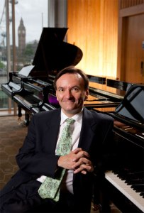 Guest artist Stephen Hough. Photo copyright Andrew Crowley.