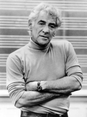 Composer, conductor, author and pianist Leonard Bernstein.
