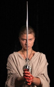 CCM student Laura McCarthy as Macbeth. Photography by Mark Lyons.