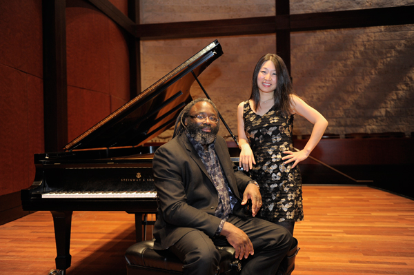 CCM faculty artists Awadagin Pratt and Soyeon Kate Lee. Photo by Andrew Higley.