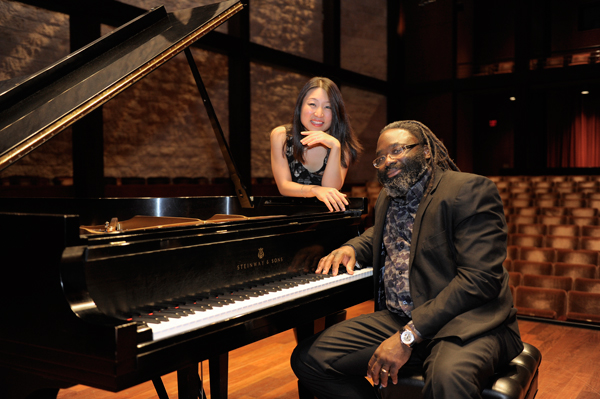 CCM faculty artists Soyeon Kate Lee and Awadagin Pratt. Photo by Andrew Higley.
