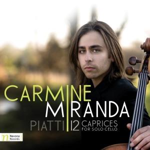 Album cover for Carmine Miranda's recording of Piatti's 12 Caprices.