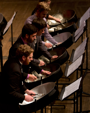 CCM's Steel Drum Band takes the stage for its annual spring concert on Jan. 31, 2015.