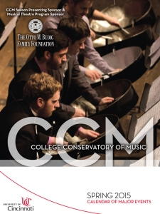 Click on the image above to view CCM's Spring 2015 Calendar Booklet.
