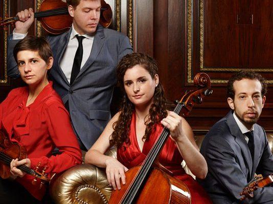 From left to right: Alexandra Kazovsky, Jan Grüning, Amit Even-Tov and Gershon Gerchikov are the Ariel Quartet.