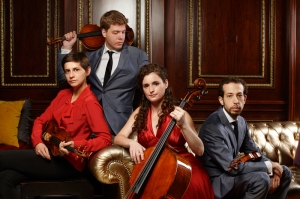From left to right: Alexandra Kazovsky, Jan Grüning, Amit Even-Tov and Gershon Gerchikov are the Ariel Quartet.