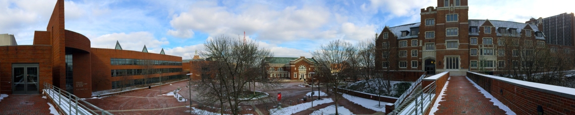 CCM Village panoramic photo; Winter of 2015. Photography by Curt Whitacre.