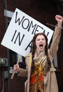 Sarah Davenport as Heidi Holland in CCM's THE HEIDI CHRONICLES. photography by Mark Lyons.