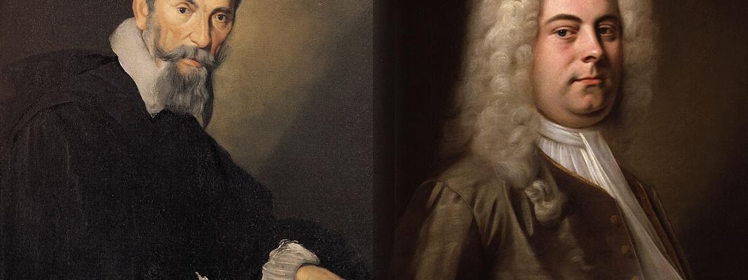 Paintings of Monteverdi and Handel.