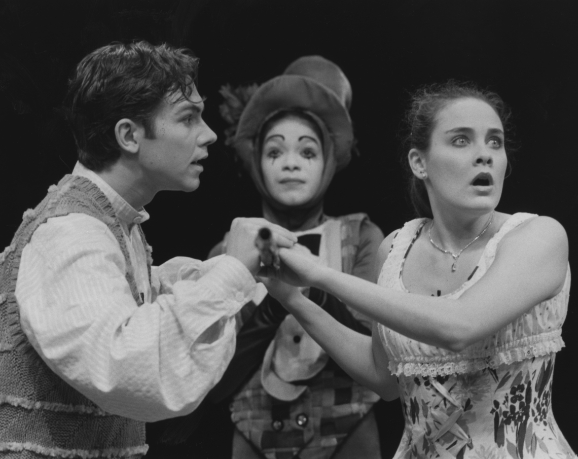 Trinidad Rosado, Shannon Stoeke and Danette Holden in CCM's 1994 Hot Summer Nights production of THE FANTASTICKS. Photography by Sandy Underwood.