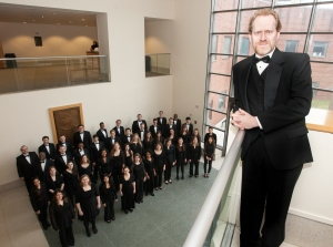 The CCM Chorale, with music director and conductor Brett Scott. Photography by Lisa Britton.