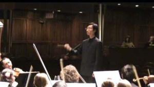 Alumnus Tung-Chieh Chuang conducting at CCM.