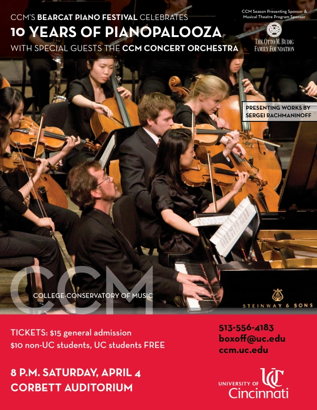 Celebrate 10 years of Pianopalooza at CCM on Saturday, April 4, 2015!