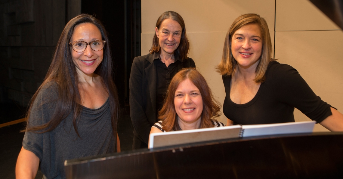 'The Birth Song Cycle' rehearsals featuring Audrey Luna, Libby Larsen, Lydia Brown and Gwen Detwiler. Photography by Joseph Fuqua II.