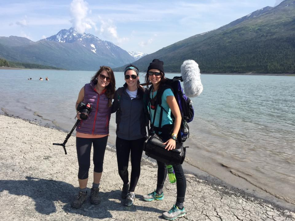 Students in UC's Production Master Class documenting 'Expedition Alaska 2015.'