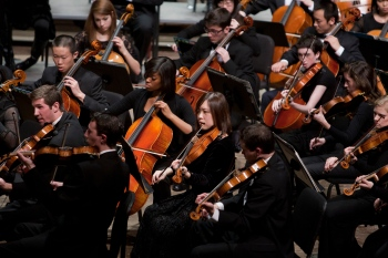 CCM's Concert Orchestra, performing at the annual Moveable Feast gala event.
