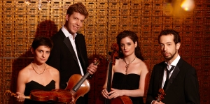 The Ariel Quartet. From left to right: Alexandra Kazovsky, Jan Grüning, Amit Even-Tov and Gershon Gerchikov.