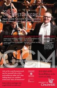 CCM's 2015-16 Orchestra Series.