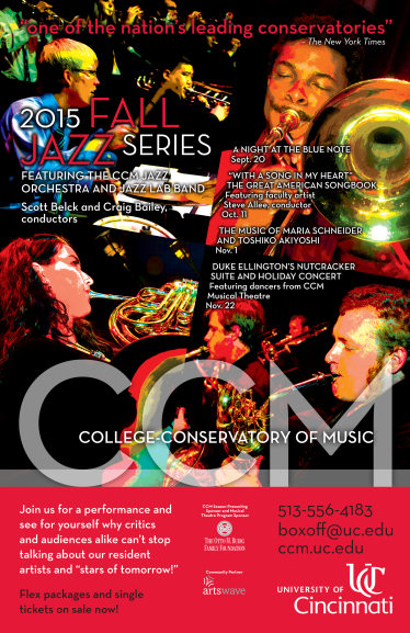 CCM's Fall 2015 Jazz Series.