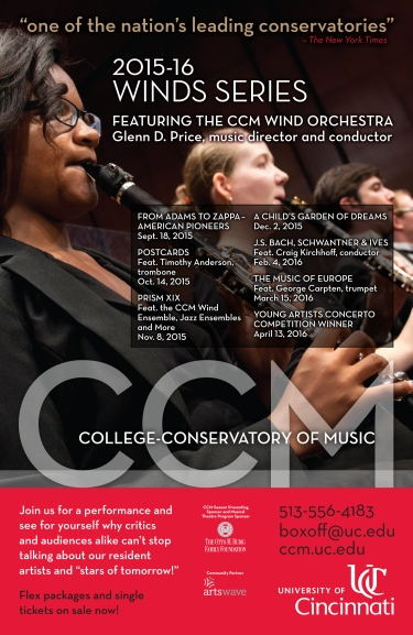 CCM's Fall 2015 Winds Series.