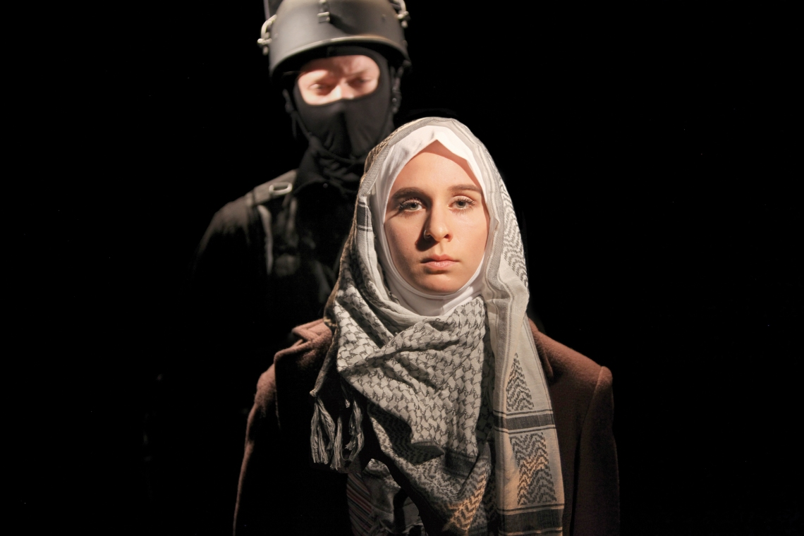 CCM students Devan Pruitt and Annie Grove in 'Pentecost.' Photo by Mark Lyons.