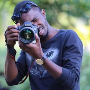 Student filmmaker Eric Mwangi working in Nairobi, Kenya.