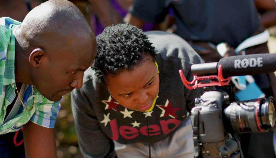 Student filmmaker Christine Njeri working in Nairobi, Kenya.