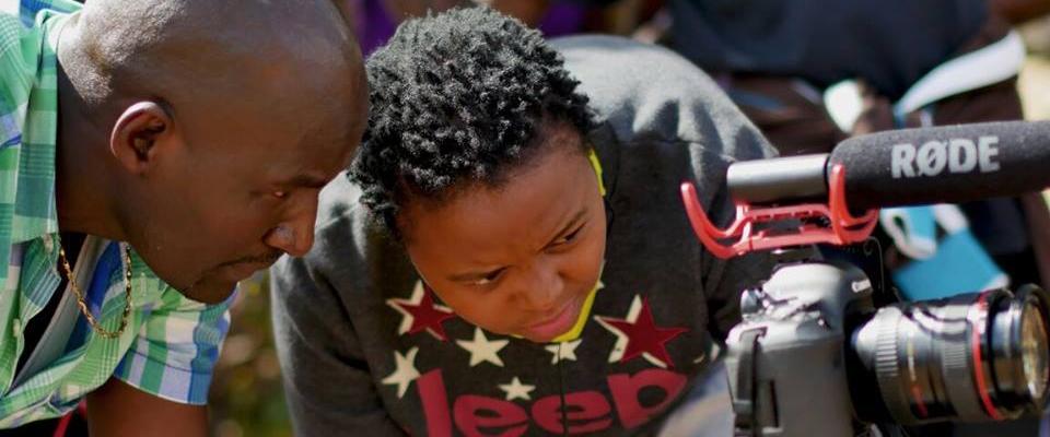 Student filmmaker Christine Njeri working in Nairobi, Kenya.