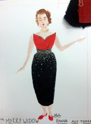 Greta Stokes' design concept for Hanna's dress.