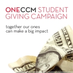 ONECCM Student Giving campaign logo.