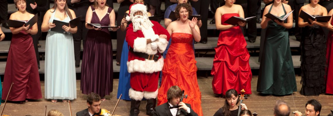 Santa arrives at CCM's 2010 Feast of Carols concert.