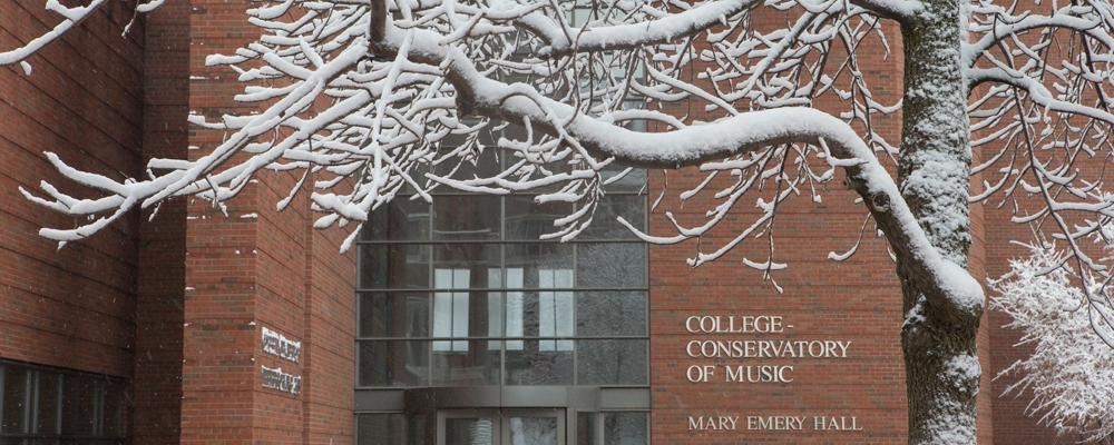 A snow-capped CCM Village.