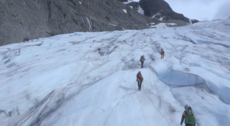 A still from the UC Production Master Class short film, 'The Making of Expedition Alaska.'