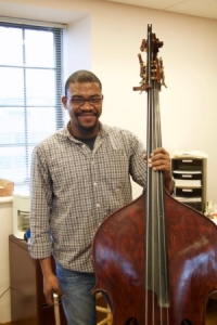 Maurice Todd and his double bass. Photo by Olivia Bruner.