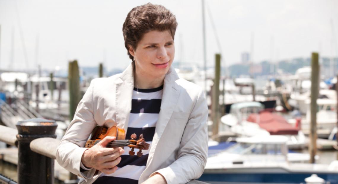 Award winning violinist Augustin Hadelich.
