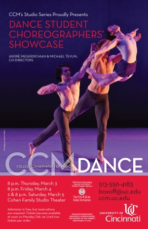 CCM Dance's annual Student Choreographers' Showcase returns March 3 - 5, 2016. Photo by Will Brenner.