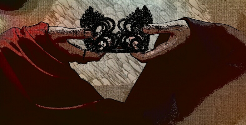 'Maria Stuarda' crown illustration by DAAP student Marcus McDowell.