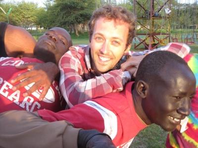 CCM Drama alumnus Michael Littig in Africa in 2011.