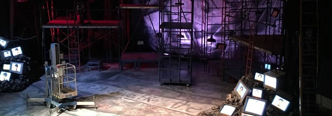 The set for CCM's Mainstage Series production of Green Day's 'American Idiot.' Photo by Ryan Strand.