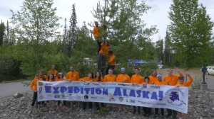 """UC students, professors, and a cadre of media professionals traveled to film """"Expedition Alaska."""" Photo provided by the UC Production Master Class."""