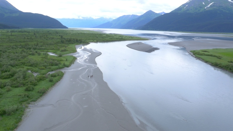 The UC Production Master Class used drones to film and chronicle the Expedition Alaska Adventure Race through the Kenai Peninsula. Photo provided by the UC Production Master Class.