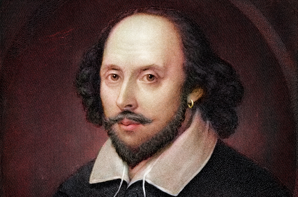 Illustration of William Shakespeare.