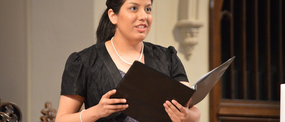 Rebecca Castillo performs in the Kentucky Bach Choir's Audrey Rooney Vocal Competition. Provided Photo.