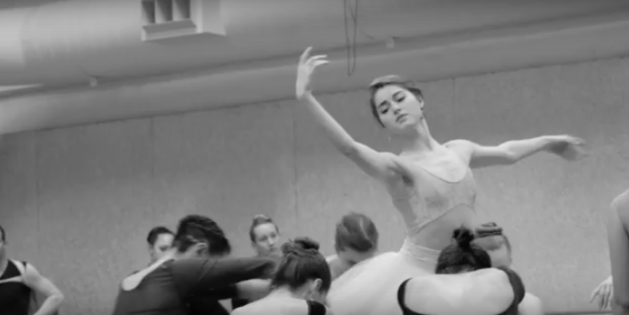 Rehearsals for CCM's April 2016 production of SWAN LAKE.