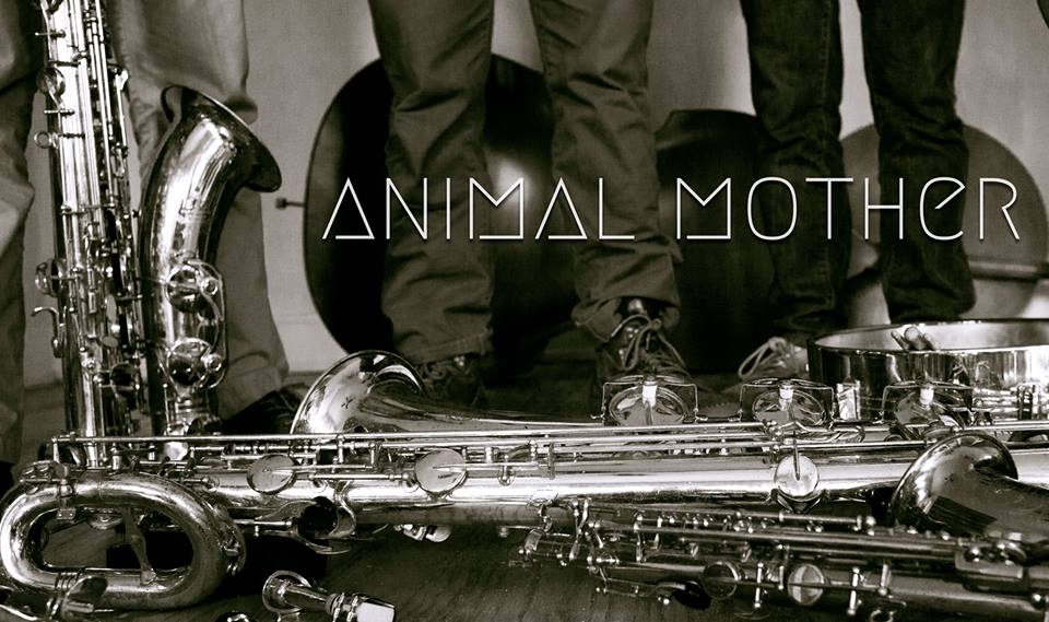 A promotional image for the Animal Mother, a jazz trio comprised of CCM alumni.