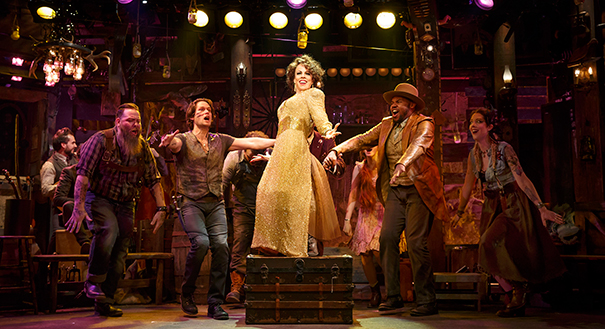 Leslie Kritzer and company in The Robber Bridegroom. Photo by Joan Marcus.
