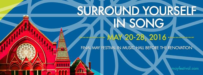 Header for Cincinnati's 2016 May Festival.
