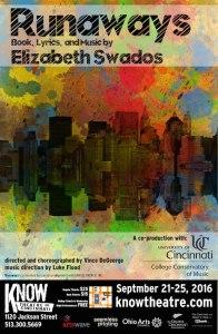 CCM's Studio Series opens with Elizabeth Swados' RUNAWAYS, co-produced with Know Theatre of Cincinnati.